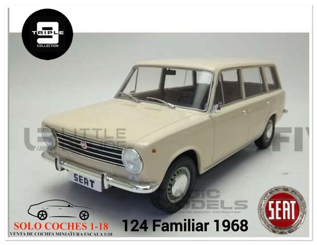 1:18 Seat 124 Familiar Año 1968 Blanco