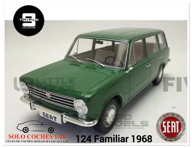 1:18 Seat 124 Familiar Año 1968 Verde