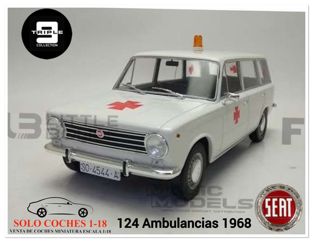 1:18 Seat 124 Ambulancia Año 1968 Blanca