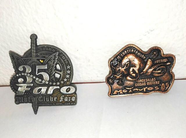 Antiguos Pins, Insignias De Moto