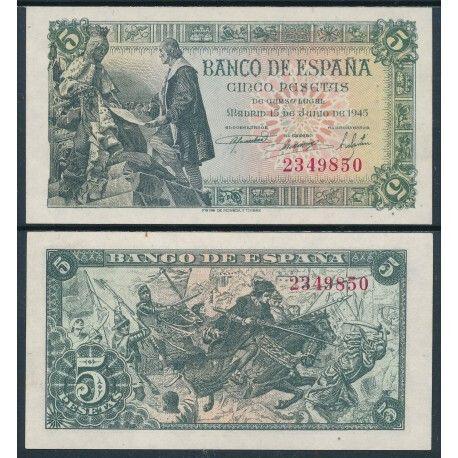Billete De 5 Pesetas. Banco De España
