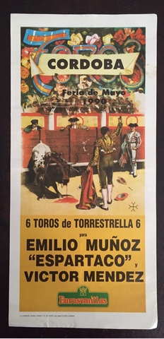 Cartel De Toros De Cordoba 1990