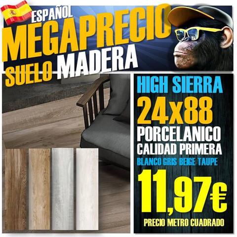 Suelo Porcelanico Madera 24X88