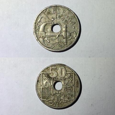 50 Céntimos De Peseta Franco 1949