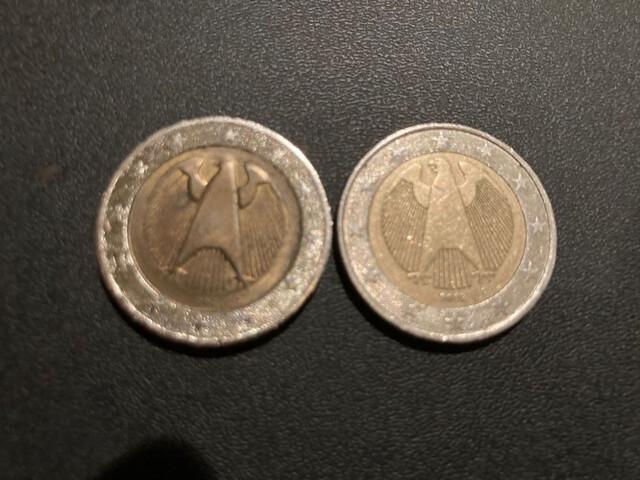 Moneda De 2 Euros Alemania Con Errores