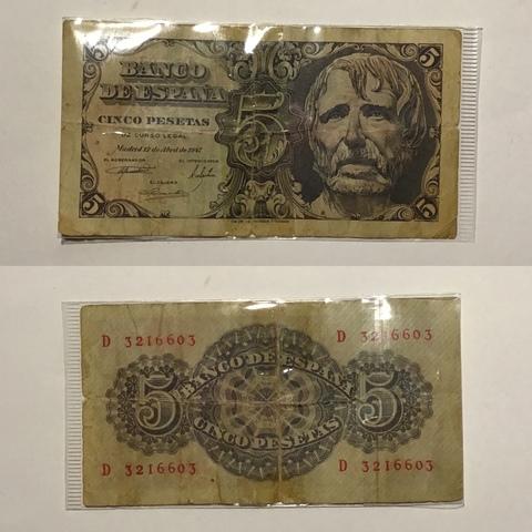 5 Pesetas Banco De España Madrid 1947