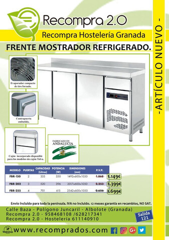 FRENTE MOSTRADOR REFRIGERADO NUEVO.  - foto 2