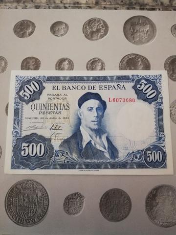 500 Pesetas. Billete Antiguo Como Nuevo