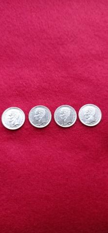 Monedas De 25 Centavos Plata