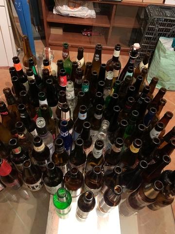Colección Botellas Cerveza Vacías