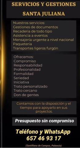 MENSAJERIA RECADOS TRANSPORTES LIGEROS - foto 1