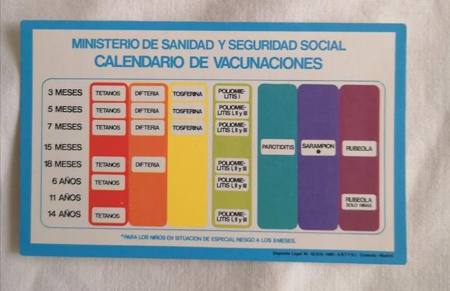Calendario Vacunas 80\'S