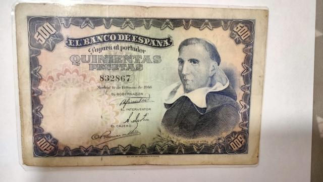 Billete De 500 Pesetas Del Año 1946