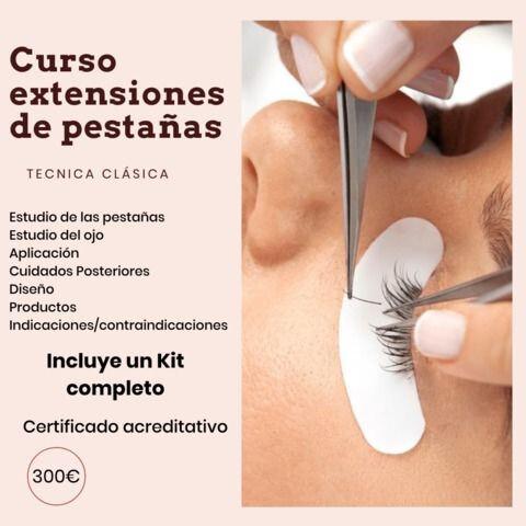 CURSO EXTENSIONES DE PESTAÑAS - foto 1