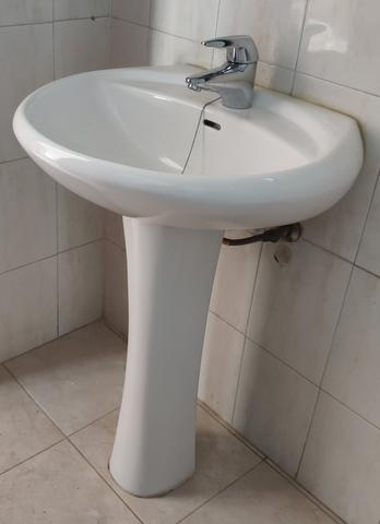 Lavabo Con Pedestal-Lavamanos