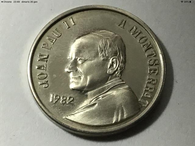 Medalla Visita Montserrat Juan Pablo Ii