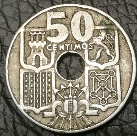Moneda De 50 Centimos De 1949