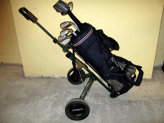 Carro De Golf Plegable Y Bolsa De Golf