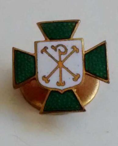 Insignia Cruz De Malta Esmaltada Verde