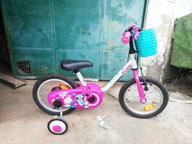 Bicicleta Decathlon Con Ruedines Infanti