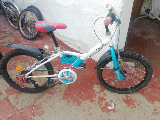 Bicicleta B Twin Llanta 20 Blanca