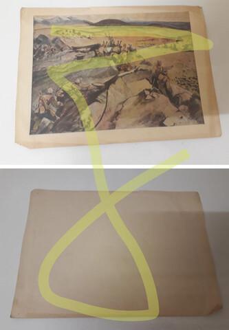 Litografía Lámina Guerra Civil Española