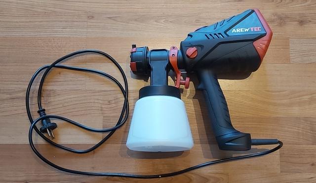 Pistola Pulverización+Compresor Arewtec