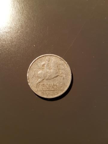 Moneda 5 Céntimos De Peseta 1941 Franco