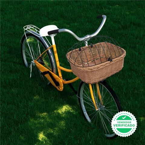 Cesta Antera Bicicleta Tapa Sauce Natura