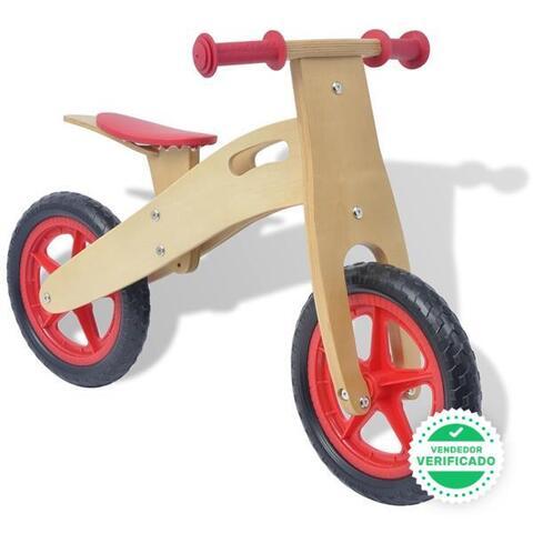 Bicicleta Sin Pedales Madera Roja