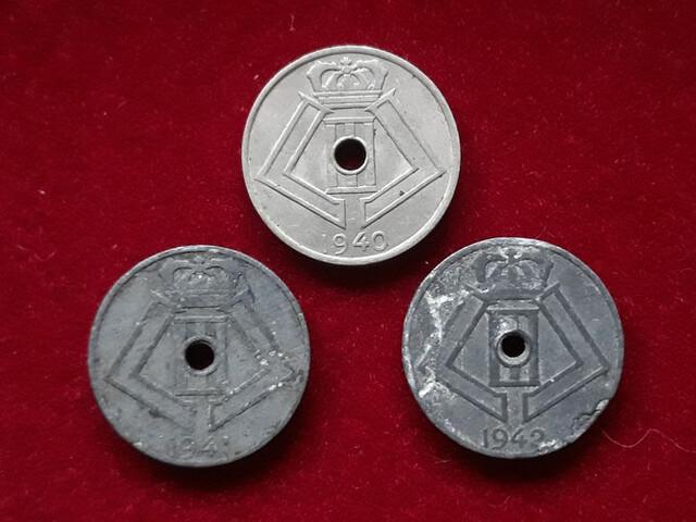 2° Guerra Mundial, 3 Monedas Bélgica