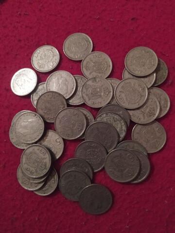 Monedas De 5 Pesetas Franco Y J.Carlos.