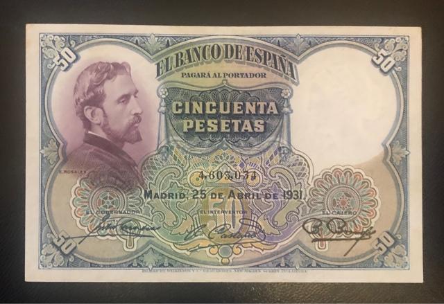 50 Pesetas Ii República Española 1931