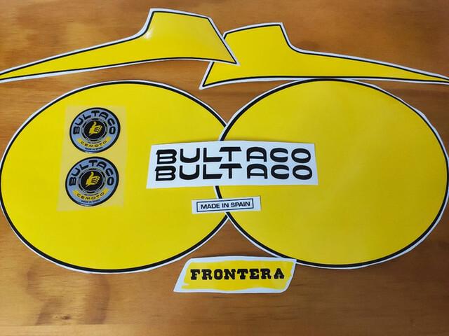 Adhesivos Pegatinas Bultaco Frontera Mk9