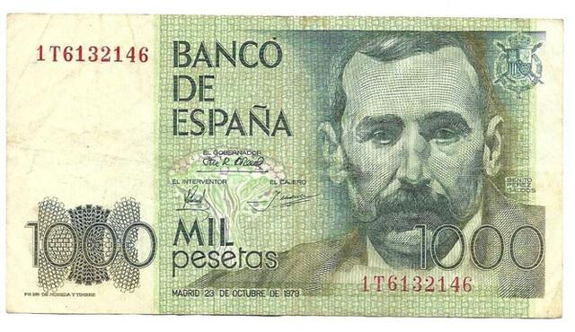 Billete 1000 Ptas, 1979, B. Pérez Galdós
