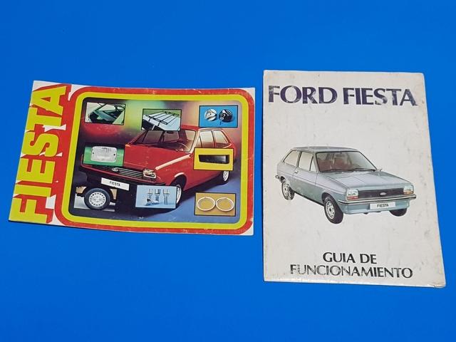 Lote De 2 Folletos Ford Fiesta Antiguo
