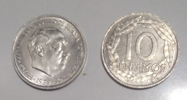 Moneda 10 Céntimos De 1959