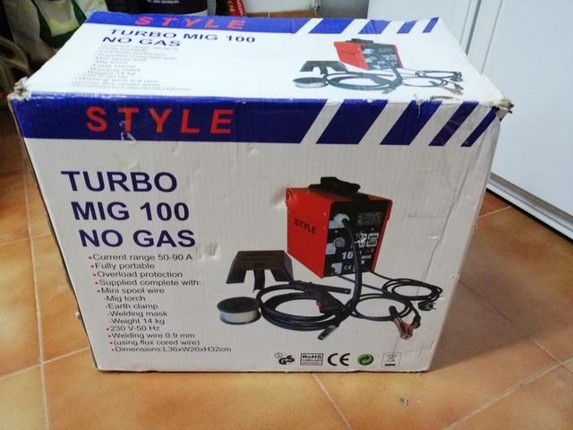 Maquina De Soldadura Sin Gas Turbo Mig 1