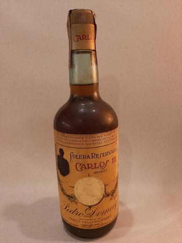 Antigüa Botella Solera Carlos Iii