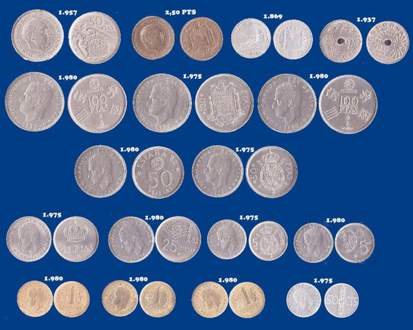 Lote De 17 Monedas De España