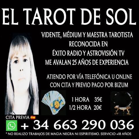 VIDENTE MEDIUM Y TAROTISTA PROFESIONAL - foto 1