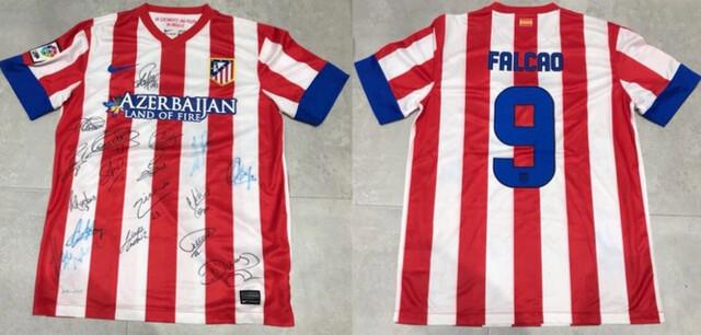 Camiseta Firmada Atletico Madrid Falcao