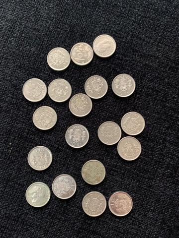 18 Monedas De 10 Pesetas