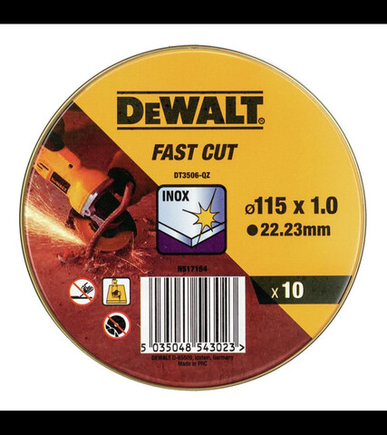 10 Discos Corte Amoladora Fast Cut 115X1