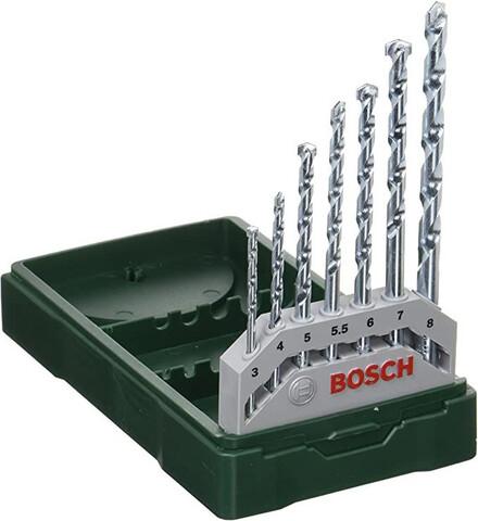 Set De 7 Brocas Brocas Bosch Para Pared
