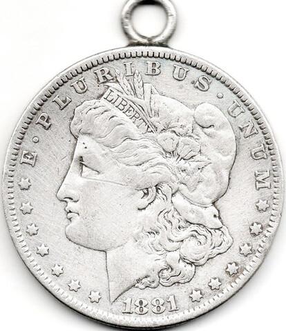 Dolar Morgan 1881 Con Argolla