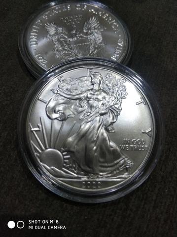 Moneda 1 Onza Plata Eagle 2020