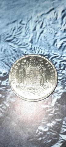 Moneda De Níquel De 5 Pesetas De Franco