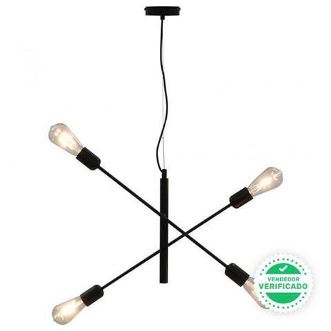 Lámpara De Techo Negro E27