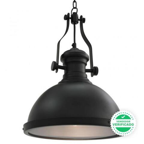Lámpara De Techo Redonda Negra E27
